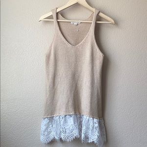 Cloud Chaser Lace Knit tank Top XS